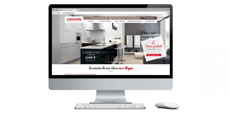 Aperçu site Cuisinella | Agence web Lemon Interactive