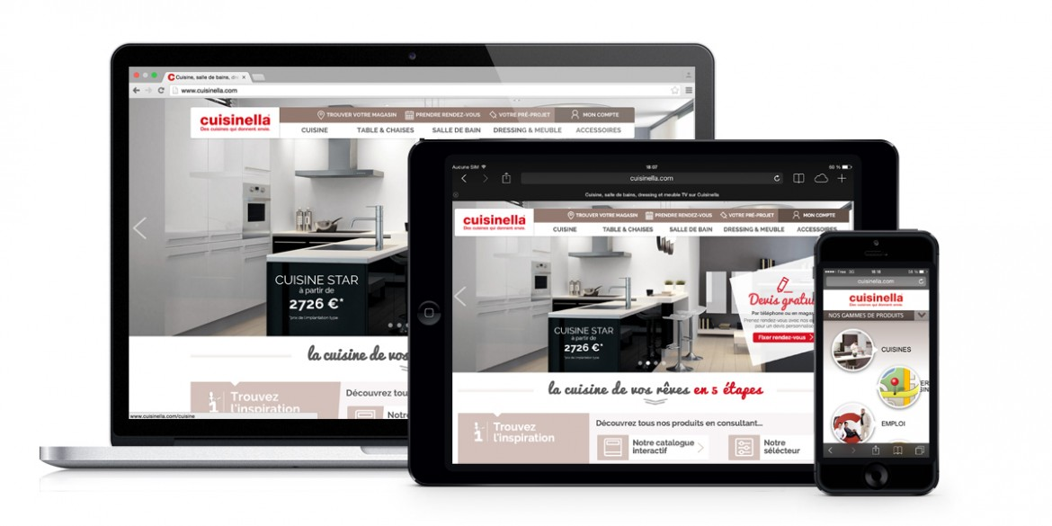 Client Cuisinella | Agence web Lemon Interactive