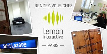 rendez vous chez lemon paris lemon interactive. Black Bedroom Furniture Sets. Home Design Ideas