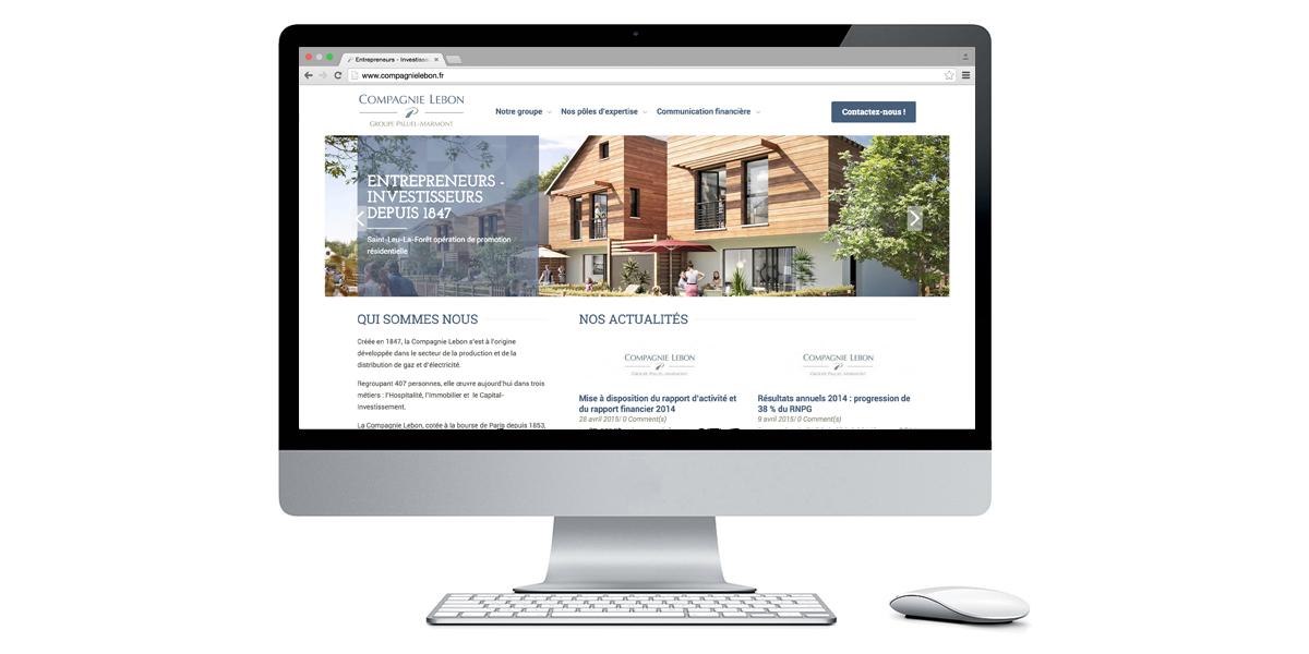Aperçu site Compagnie Lebon | Agence web Liemon Interactive