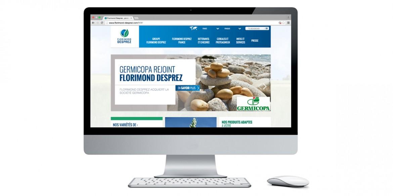 Aperçu site client Florimond Desprez | Agence web Lemon Interactive
