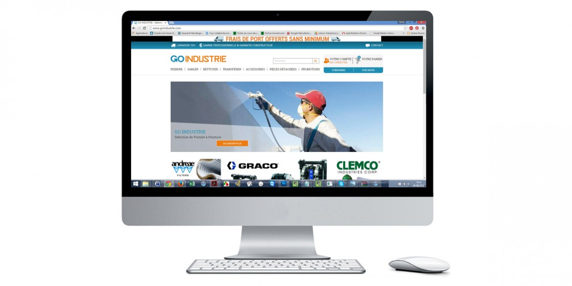 Aperçu site GO industrie | Agence web Lemon Interactive