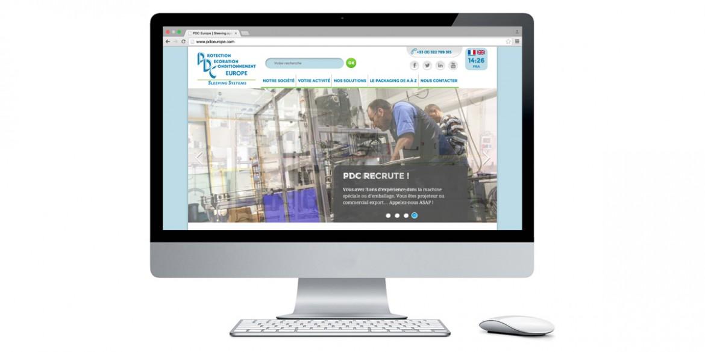 Aperçu site PDC Europe | Agence web Lem
