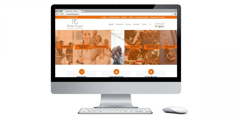 Aperçu site Pontet Guyot | Agence web Lem