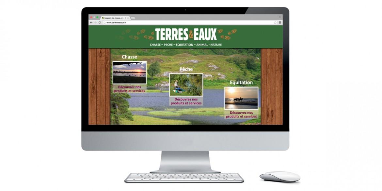 Aperçu site Terres & Eaux| Agence web Lem